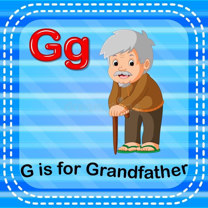 La lettera G di Flashcard è per il nonno illustrazione vettoriale