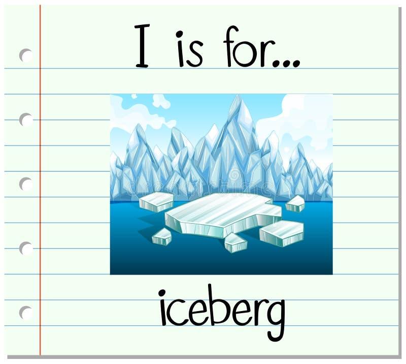 La lettera I di Flashcard è per l'iceberg royalty illustrazione gratis