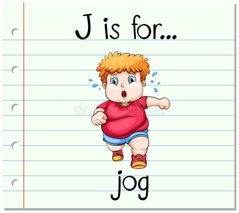 La lettera J di Flashcard è per il trotto royalty illustrazione gratis