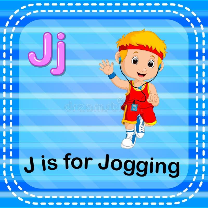 La lettera J di Flashcard è per pareggiare royalty illustrazione gratis