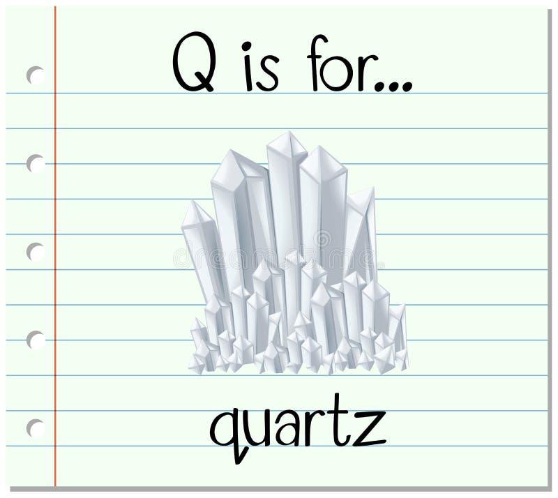 La lettera Q di Flashcard è per i quarti royalty illustrazione gratis