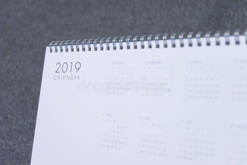 La lettera 2019 sul calendario immagine stock libera da diritti