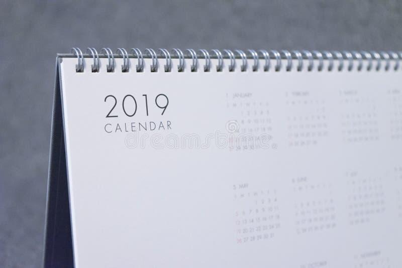 La lettera 2019 sul calendario immagini stock libere da diritti