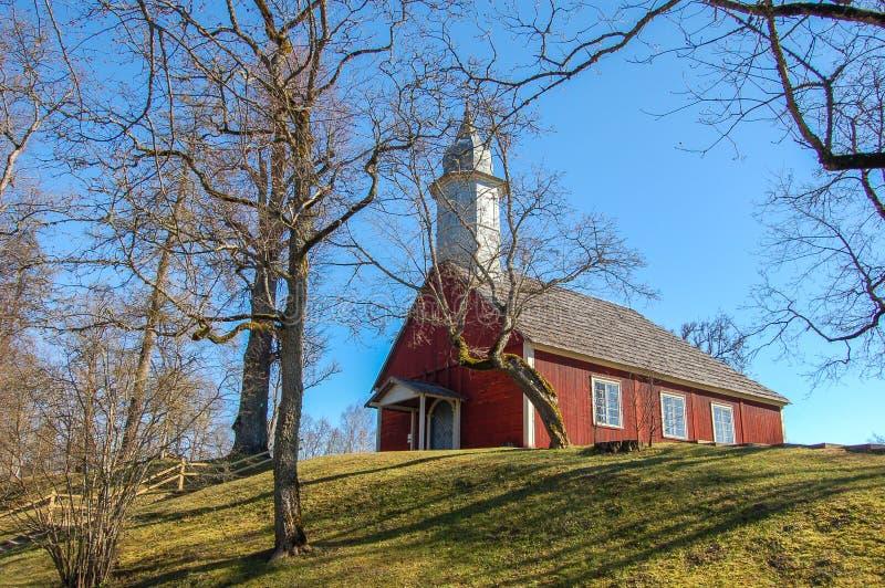 La Lettonie, château antique de Turaida au printemps Depuis 1214 Construction sur le territoire images stock