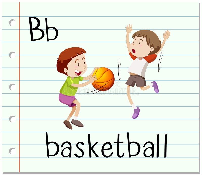 La lettre B est pour le basket-ball illustration stock