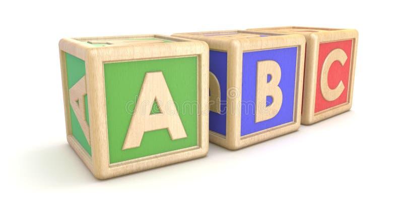 La lettre bloque ABC 3d illustration stock