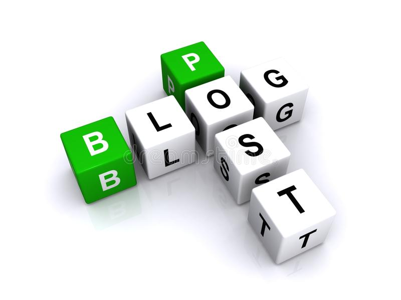 La lettre cube le poteau de blog illustration de vecteur