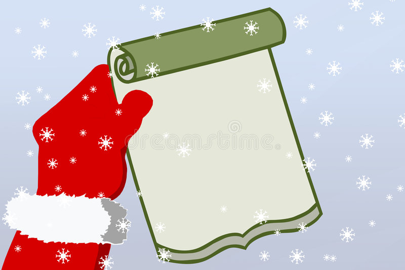 La lettre de Santa illustration libre de droits
