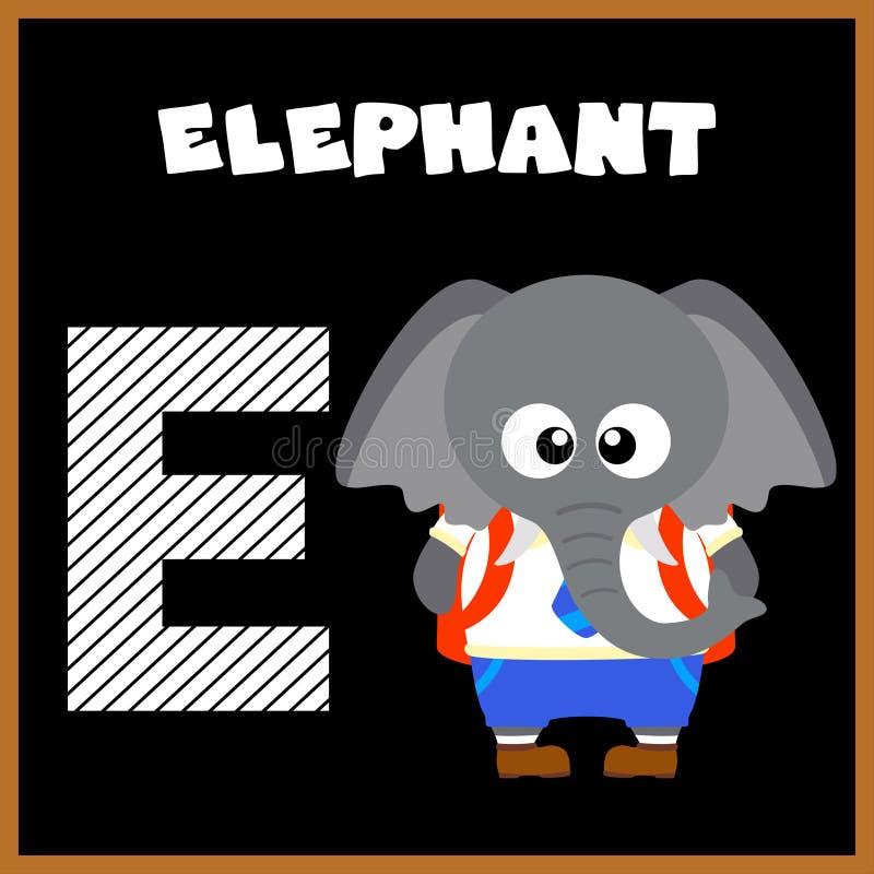 La lettre E d'alphabet anglais illustration de vecteur