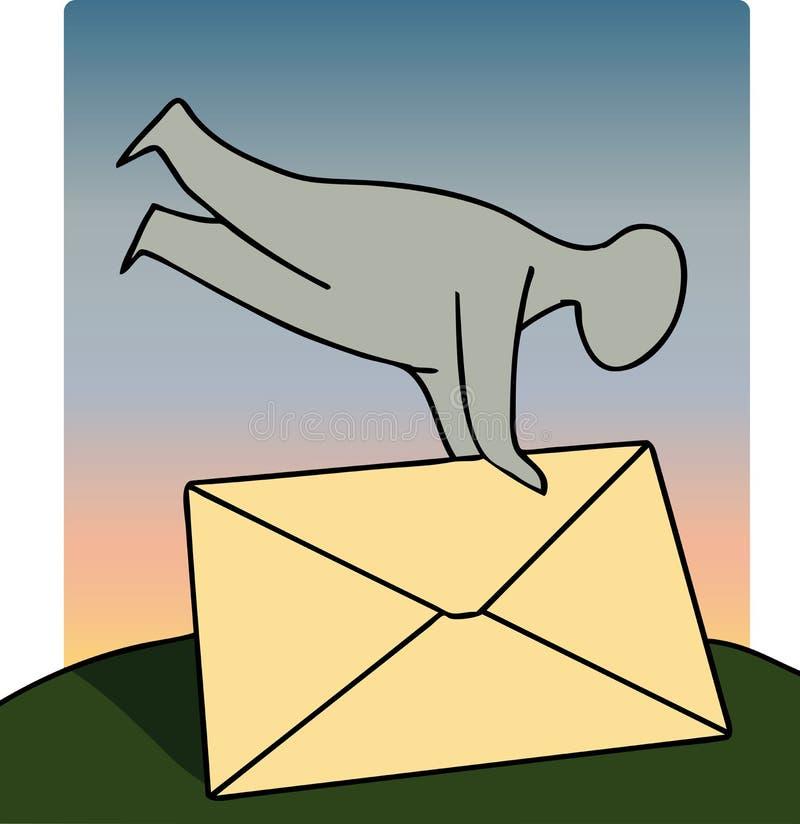 La lettre envoient illustration libre de droits