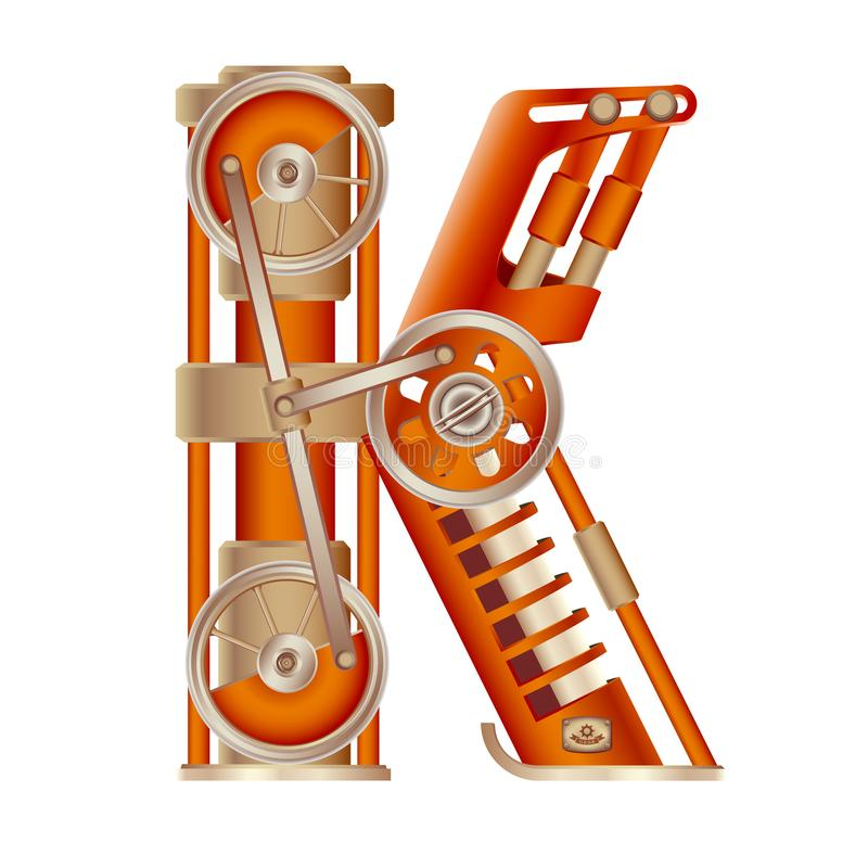La lettre K de l'alphabet latin illustration de vecteur