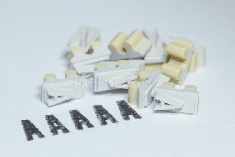 La lettre A utilisée pour une estampille photos stock
