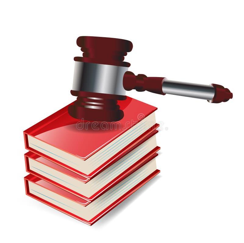 La ley dio en la pila de maderas stock de ilustración