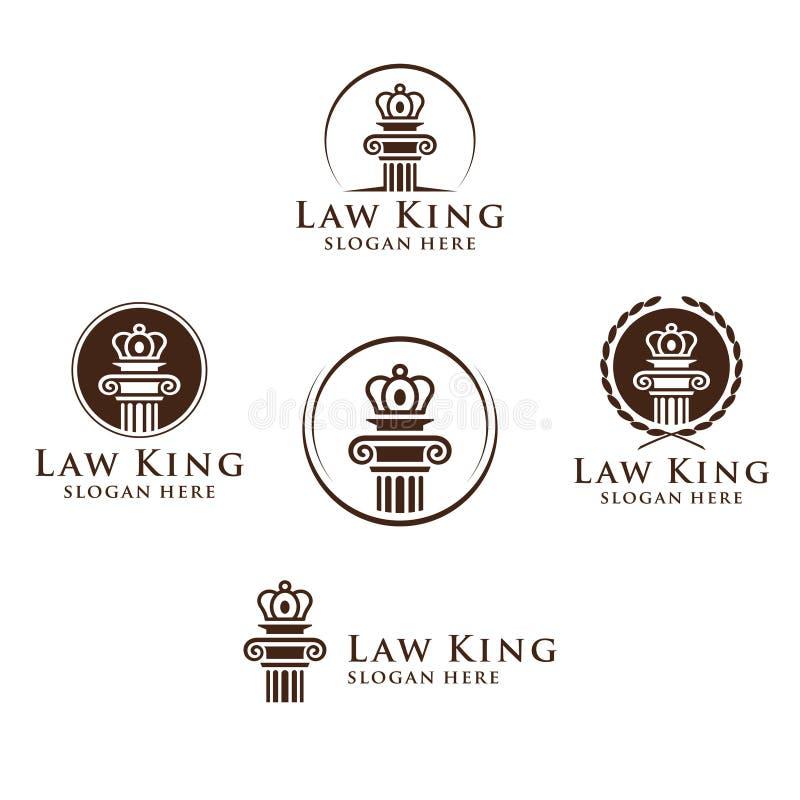 La ley y el logotipo del abogado, la ley elegante y el logotipo firme del vector del abogado diseñan libre illustration