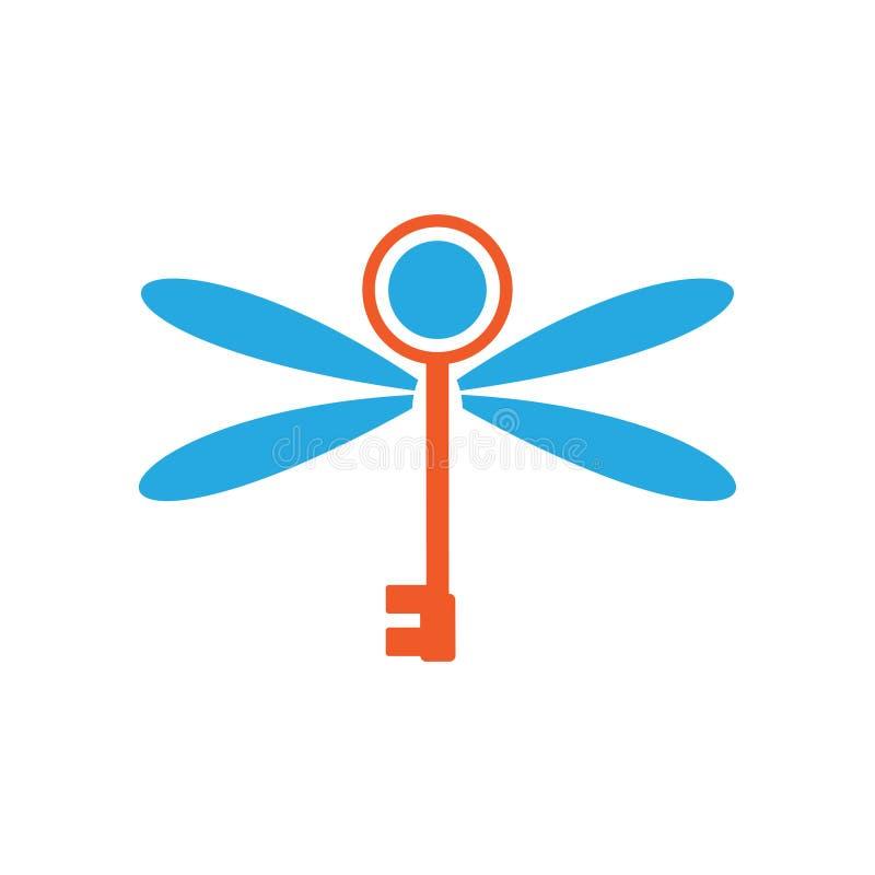 La libélula dominante de la mosca se va volando la seguridad secreta Logo Symbol libre illustration