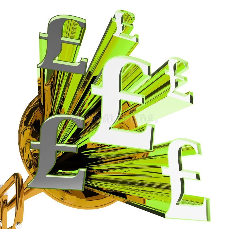 La libbra firma la valuta di mezzi della Gran Bretagna illustrazione di stock