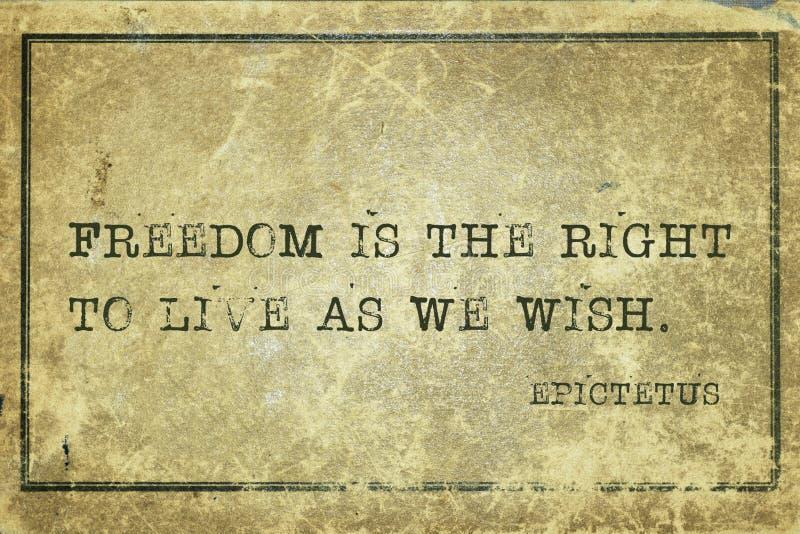La liberté est Epictetus photo libre de droits