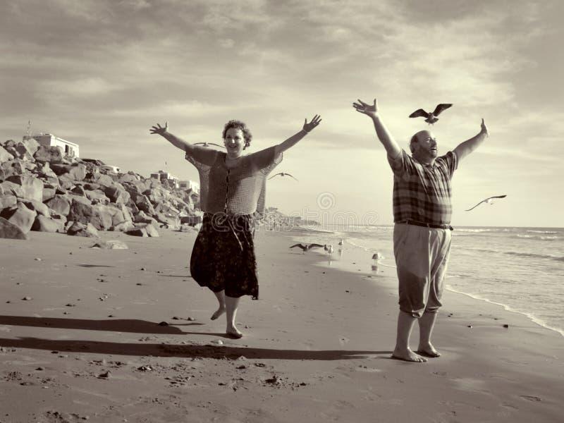 La liberté joyeuse de retraite photo libre de droits
