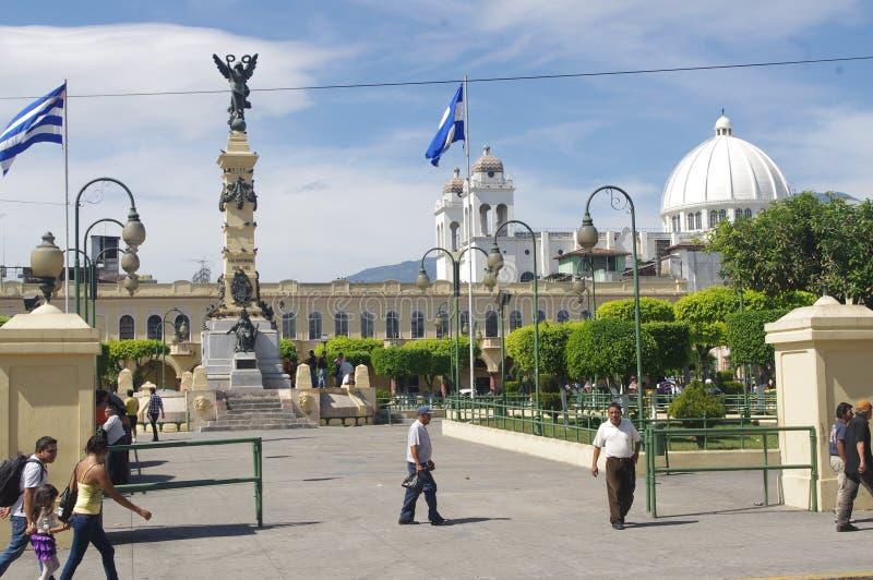 La Libertad Plaza in San Salvador. Capital of El Salvador, Central America royalty free stock photo