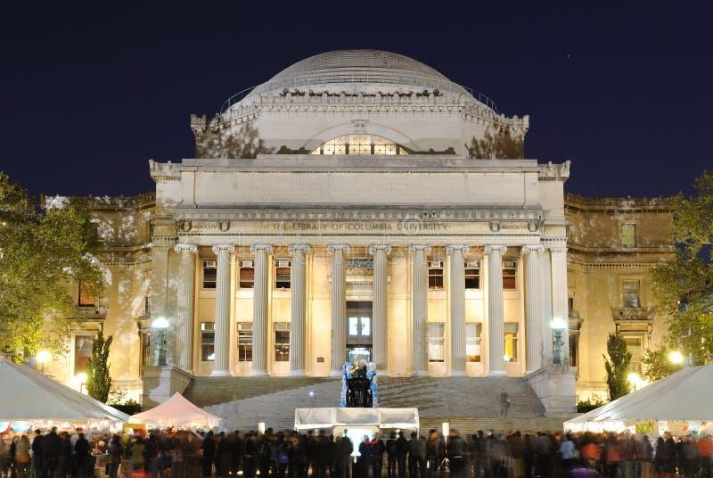 La libreria dell'Università di Columbia immagine stock