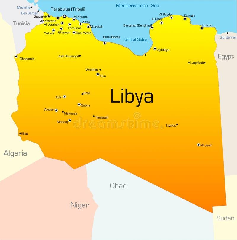La Libye illustration de vecteur
