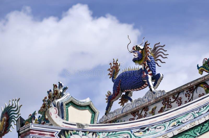 La licorne à tête de dragon chinoise, cheval, cheval coloré, kilen, kyli image libre de droits