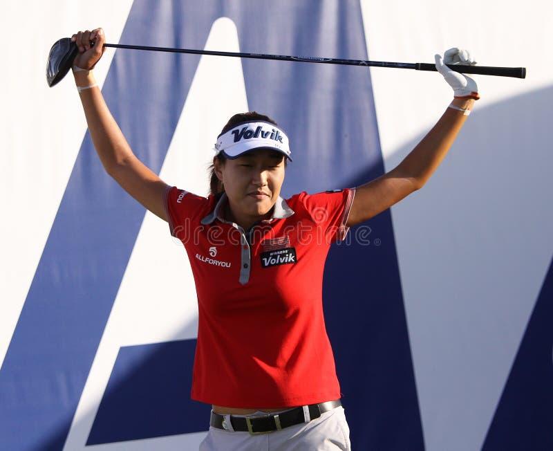 La lie d'Inhee à l'inspiration d'ANA joue au golf le tournoi 2015 photographie stock