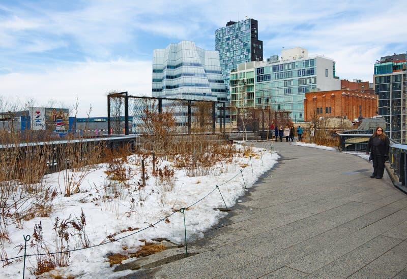 La ligne élevée parc de Manhattan New York photo libre de droits