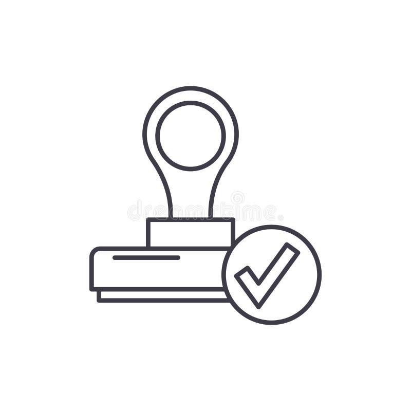 La ligne concept de confirmation d'icône L'illustration linéaire de vecteur de confirmation, symbole, signe illustration de vecteur