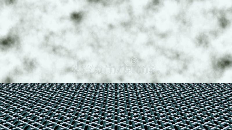 La ligne d'horizon Nuages dans le ciel image stock