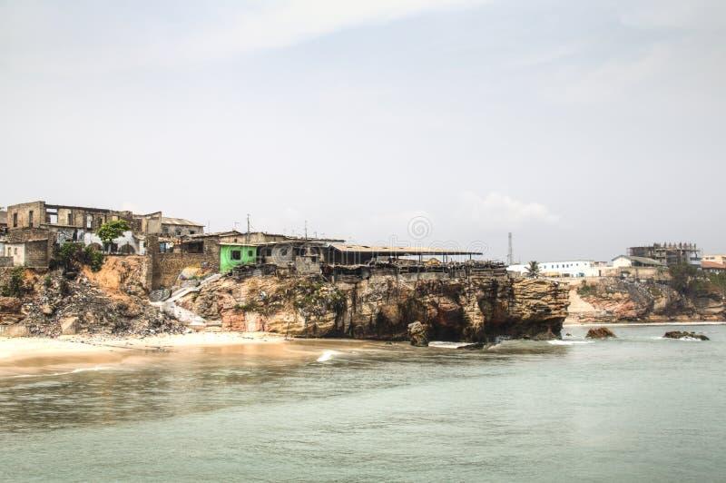 La ligne de côte de Jamestown, Accra, Ghana photo libre de droits