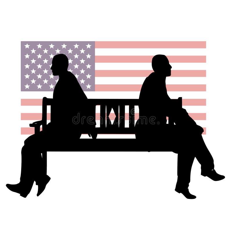 La ligne de partage politique des USA illustration stock