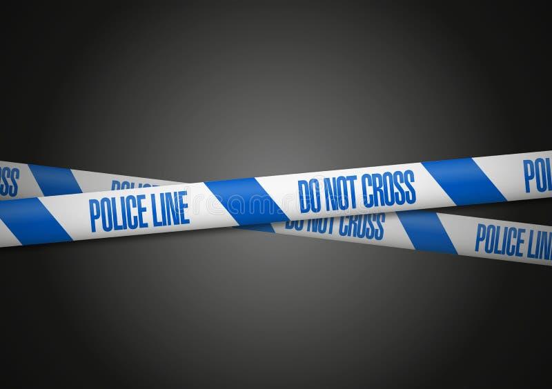 La ligne de police de l'Angleterre ne croisent pas illustration libre de droits