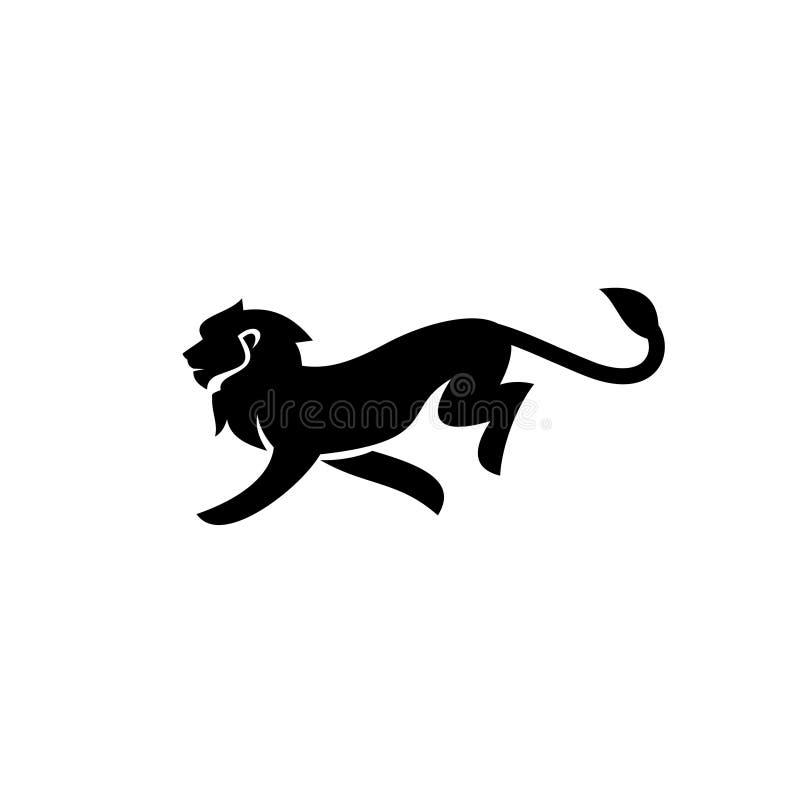 La ligne icône d'ensemble de noir de logo de lion de bouclier de silhouette de logo de silhouette d'ensemble conçoit le vecteur p illustration de vecteur