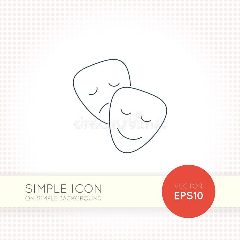 La ligne mince supplémentaire universel de vecteur de conception masque l'icône Éléments pour l'interface utilisateurs illustration de vecteur