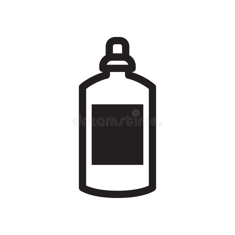 La ligne noire et blanche mettent l'icône en bouteille Pour le traiteur de café de menu, icônes pour le café, APP, empaquetant illustration stock