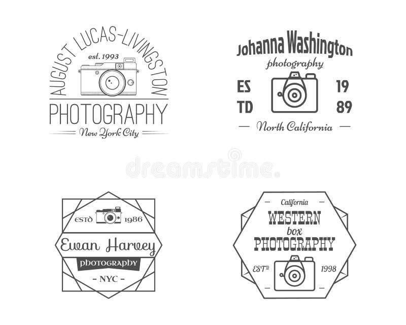 La ligne photographie de vintage Badges, des labels illustration libre de droits