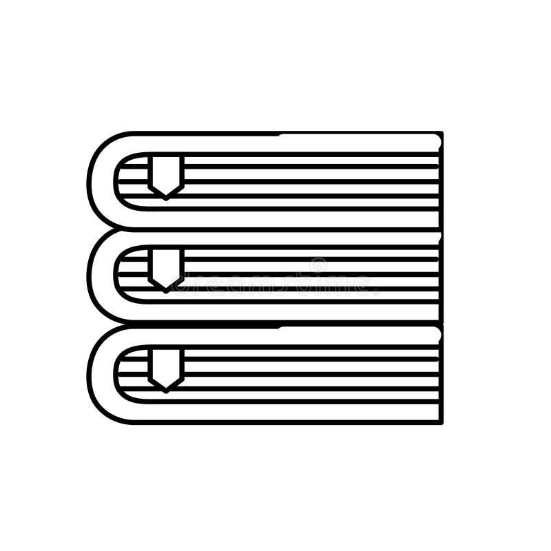 La ligne réserve l'objet à la littérature de la connaissance d'éducation illustration stock