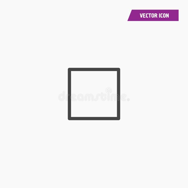La ligne vecteur carré d'icône a isolé illustration de vecteur