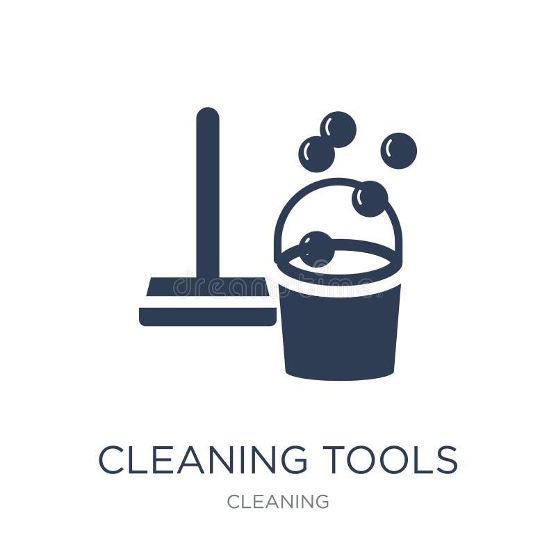 La limpieza equipa el icono  stock de ilustración