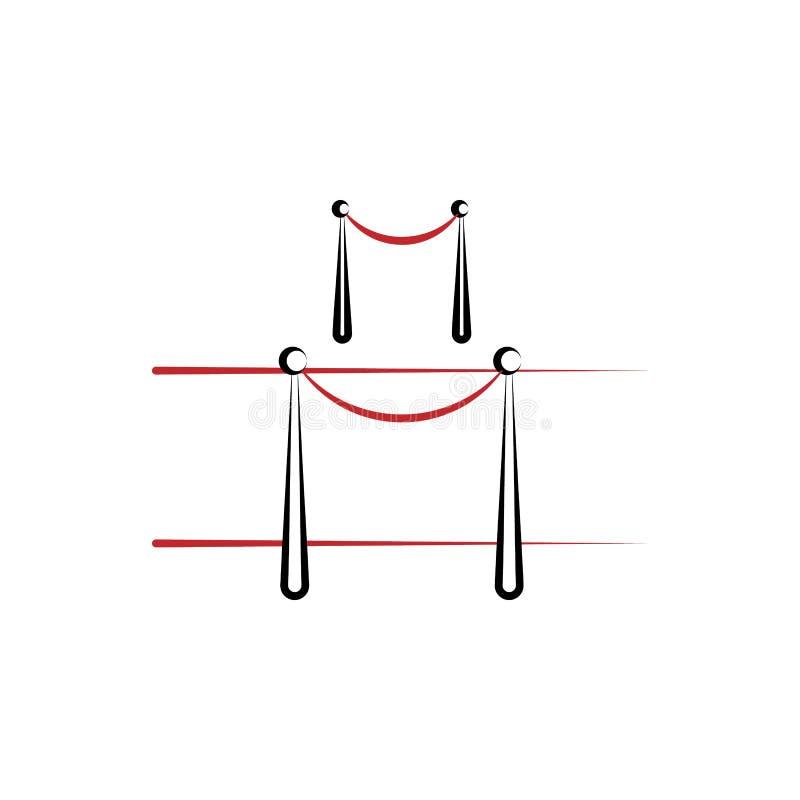 la linea colorata icona del tappeto rosso 2 Illustrazione semplice dell'elemento colorato la progettazione di simbolo del profilo illustrazione vettoriale