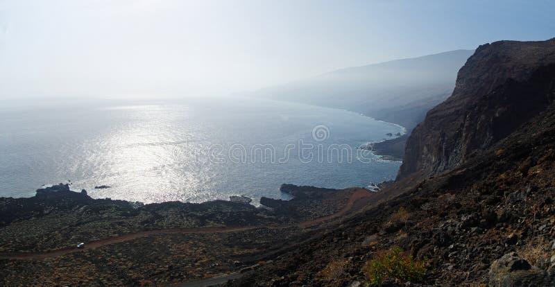 La linea costiera del EL Hierro spain fotografia stock libera da diritti