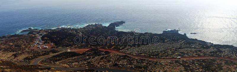 La linea costiera del EL Hierro spain fotografia stock