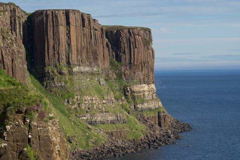 La linea costiera dell'isola di Skye fotografia stock