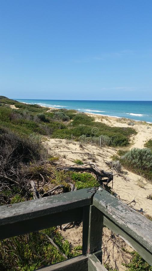 La linea costiera di Victoria occidentale fotografia stock libera da diritti