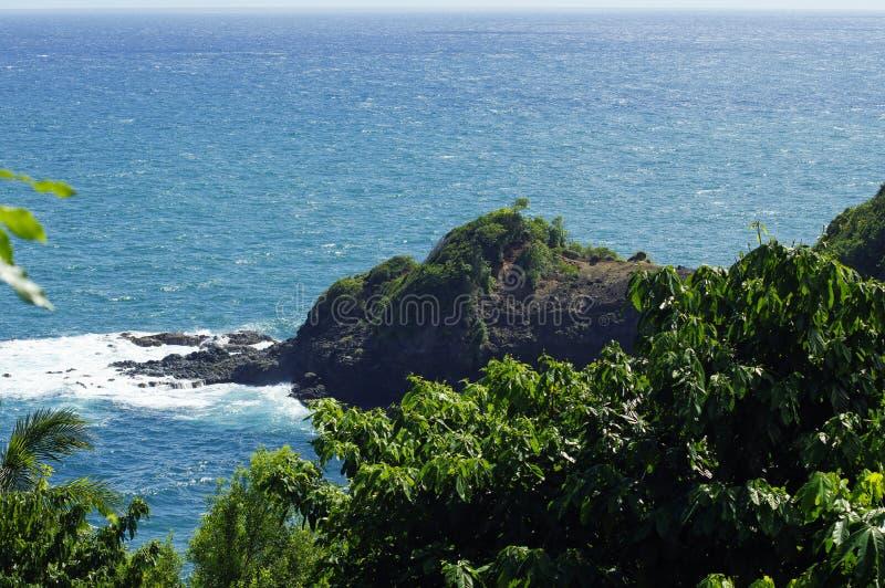 La linea costiera vicino al castello Bruce, isola della Dominica, Lesser Antilles fotografia stock