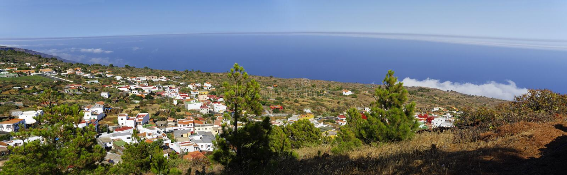 La linea costiera vicino a Tacoron EL Hierro immagine stock libera da diritti