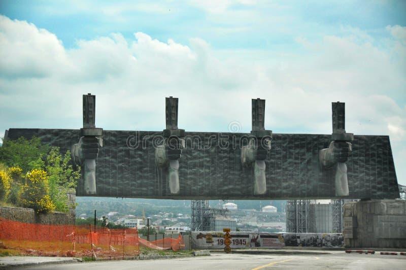 La linea di difesa del monumento in Novorossijsk immagine stock