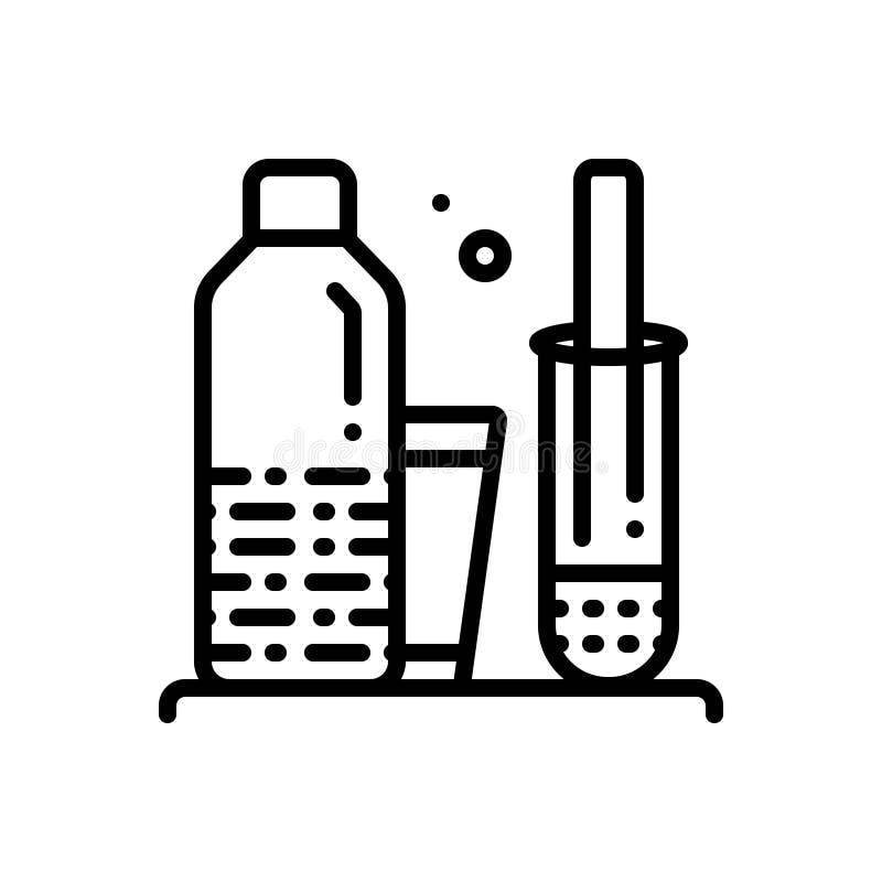 La linea nera icona per Homogenize, sistematizza e prodotto illustrazione vettoriale