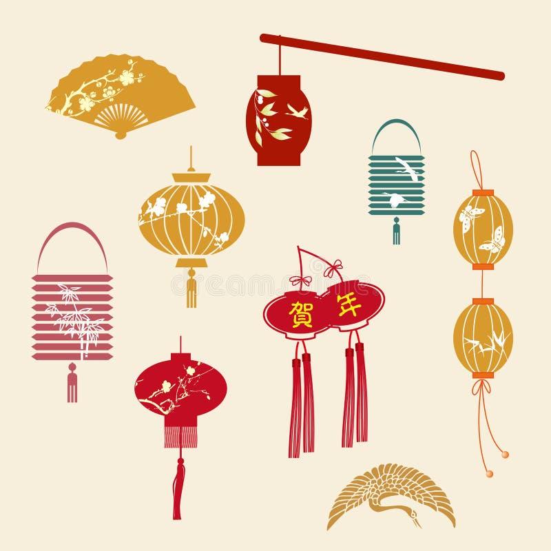 La linterna china del Año Nuevo stock de ilustración
